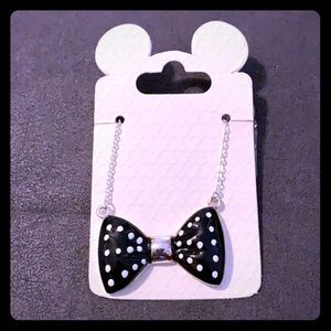 Disney, Black and White bow tie necklace